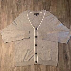 Banana Republic Silver Cardigan